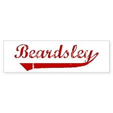 Beardsley (red vintage) Bumper Car Sticker