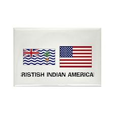 Bristish Indian American Rectangle Magnet