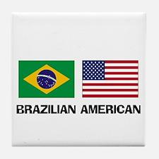 Brazilian American Tile Coaster