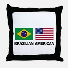 Brazilian American Throw Pillow