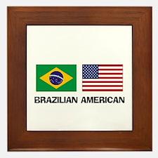 Brazilian American Framed Tile