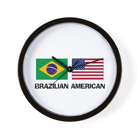 Brazilian American Wall Clock