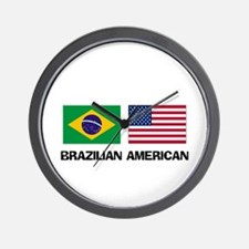 Brazilian American Wall Clock