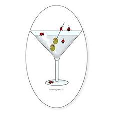 Martini Ladybugs Oval Decal
