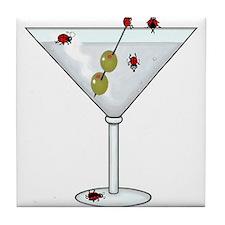 Martini Ladybugs Tile Coaster