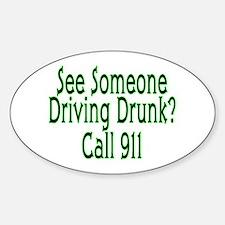 Call 911 Oval Bumper Stickers
