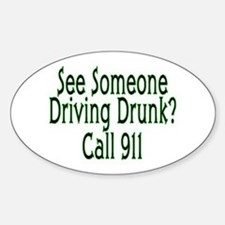 Call 911 Oval Decal