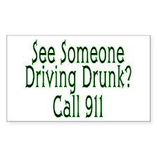 Call 911 Rectangle Decal