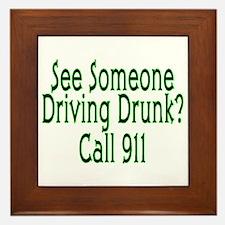 Call 911 Framed Tile