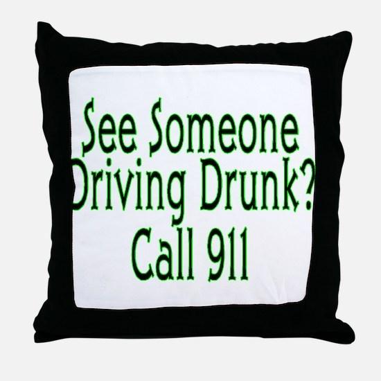 Call 911 Throw Pillow