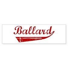 Ballard (red vintage) Bumper Bumper Sticker
