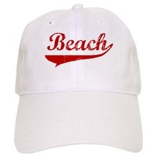 Beach (red vintage) Baseball Cap