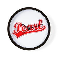 Retro Pearl (Red) Wall Clock