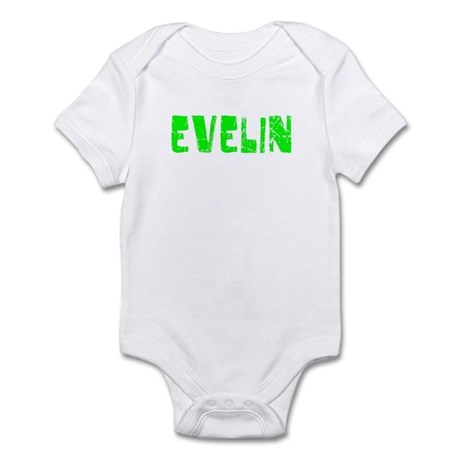 Evelin Faded (Green) Infant Bodysuit
