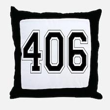 406 Throw Pillow
