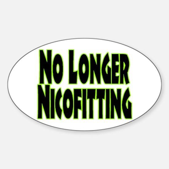 No Longer Nicofitting Oval Decal