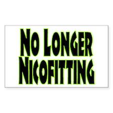 No Longer Nicofitting Rectangle Decal