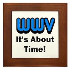 WWV, It's About Time! Framed Tile