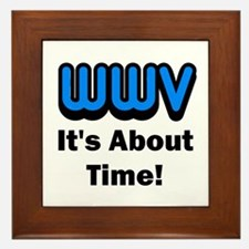 WWV, It's About Time! Framed Tile
