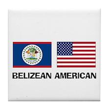 Belizean American Tile Coaster