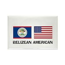 Belizean American Rectangle Magnet