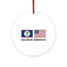 Belizean American Ornament (Round)