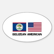 Belizean American Oval Decal