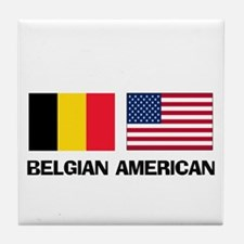 Belgian American Tile Coaster