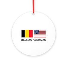 Belgian American Ornament (Round)
