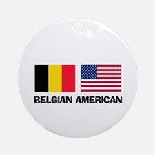 Belgian American Ornament (Round)