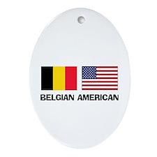 Belgian American Oval Ornament