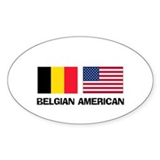 Belgian American Oval Decal