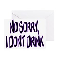 I Don't Drink Greeting Cards (Pk of 20)