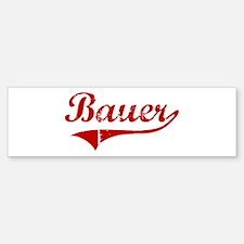 Bauer (red vintage) Bumper Bumper Bumper Sticker