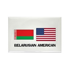 Belarusian American Rectangle Magnet