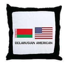 Belarusian American Throw Pillow