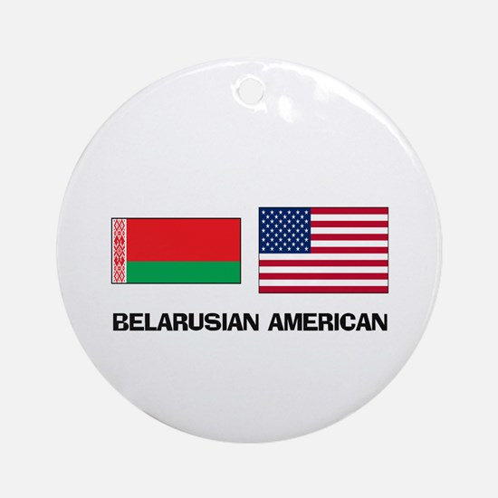 Belarusian American Ornament (Round)