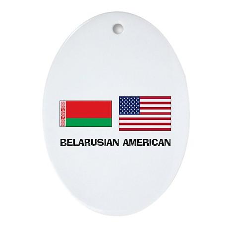 Belarusian American Oval Ornament