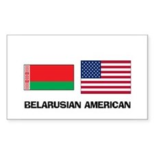 Belarusian American Rectangle Decal