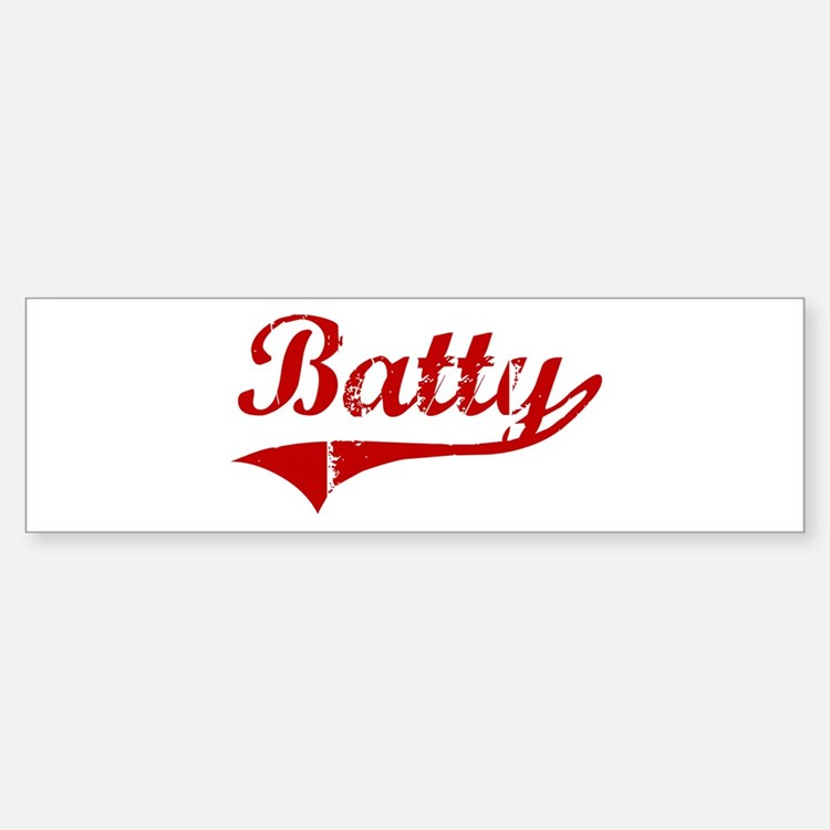 Batty (red vintage) Bumper Bumper Bumper Sticker