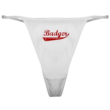 Badger (red vintage) Classic Thong