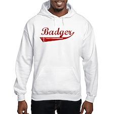 Badger (red vintage) Hoodie
