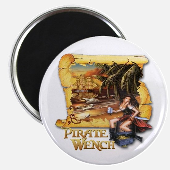 Pirate Wench Ship and Map Magnet