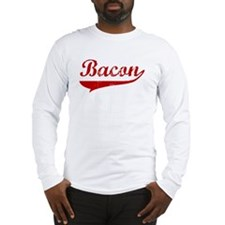 Bacon (red vintage) Long Sleeve T-Shirt