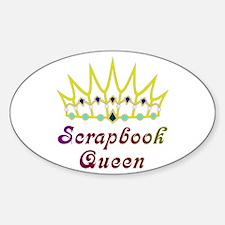Scrapbook Queen Scrapbooking Oval Decal