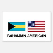 Bahamian American Rectangle Decal