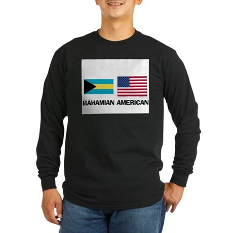 Bahamian American Long Sleeve Dark T-Shirt