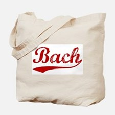 Bach (red vintage) Tote Bag