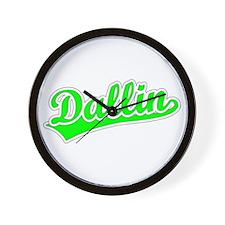 Retro Dallin (Green) Wall Clock