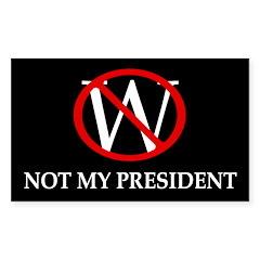 W: Not My President (bumper sticker)